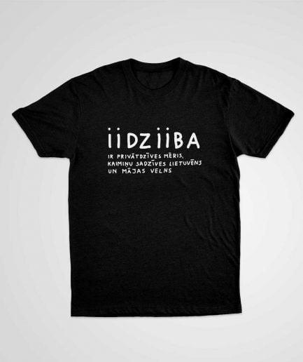 iidziiba T-shirt T-krekls Mens Viriesu
