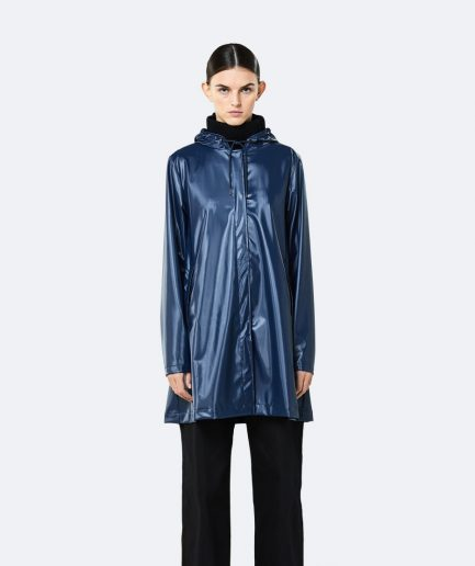 RAINS A-line Jacket Shiny Blue