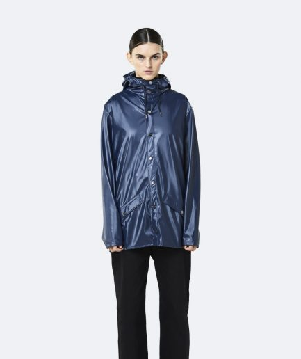 Rains Jacket Shiny Blue
