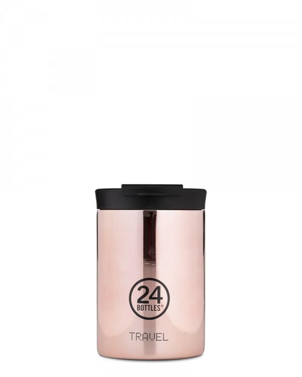24Bottles Bottle Travel Tumbler Rose Gold 350