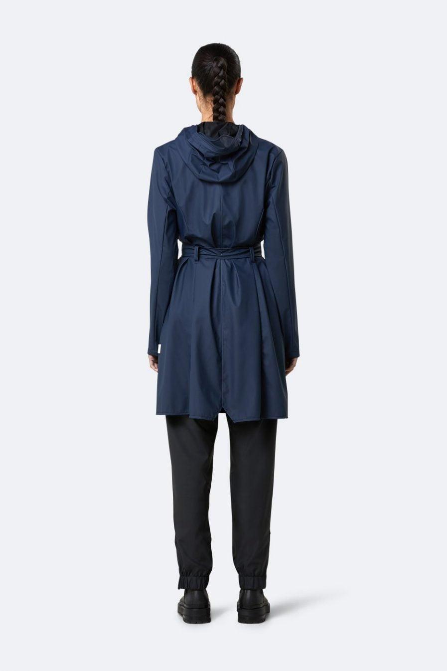 Rains Curve Jacket Blue XXS/XS
