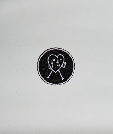 Heart Badge Black