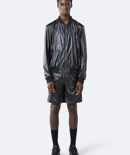RAINS City Bomber Jacket Shiny Black