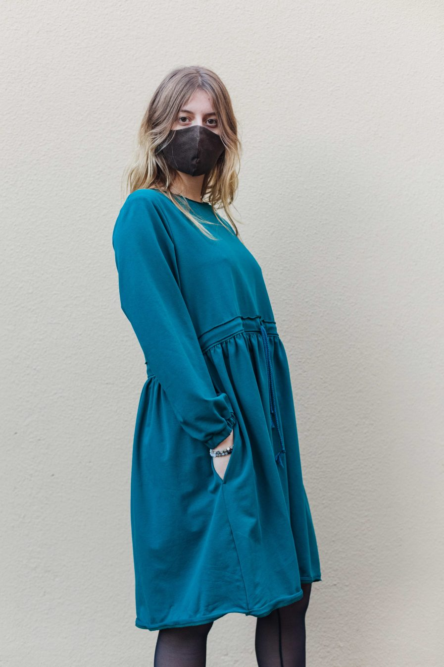 M50 Dress Cute with Pockets Teal