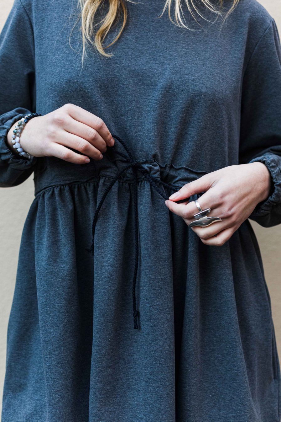 M50 Dress Cute with Pockets Gray