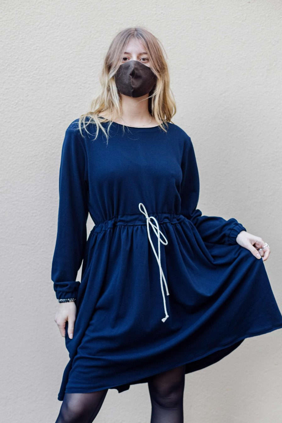 M50 Dress Cute with Pockets Navy Blue S