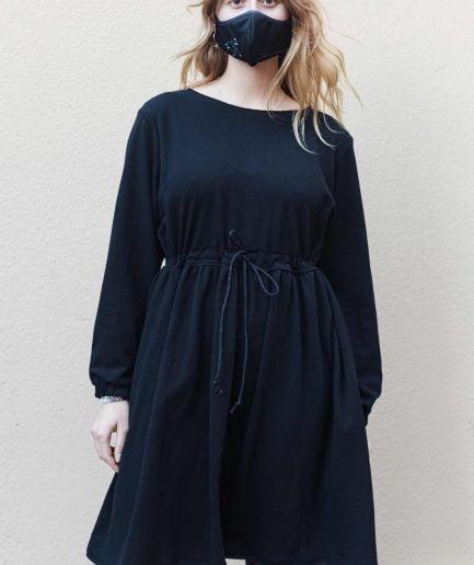 M50 Dress Cute with Pockets Black