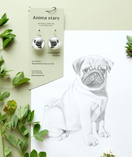 Anima Stars Earrings Pug