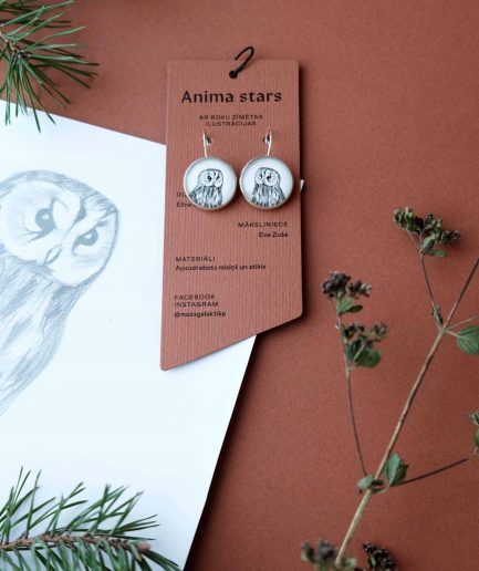 Anima Stars Earrings Owl