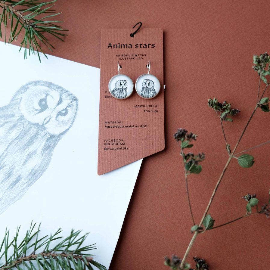 Anima Stars Earrings Owl
