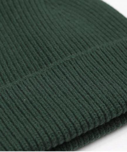 MERINO WOOL BEANIE - EMERALD GREEN