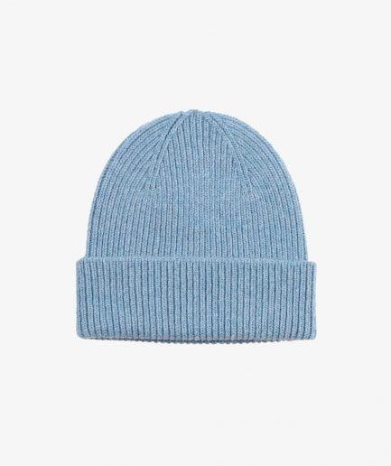 MERINO WOOL BEANIE - STONE BLUE