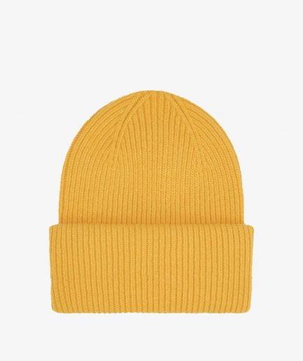 MERINO WOOL HAT - BURNED YELLOW