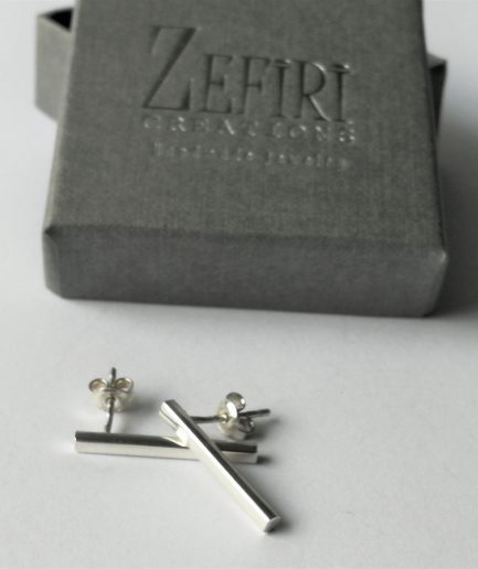 ZEFIRI CREATIONS Silver mini Auskari Nr. 8