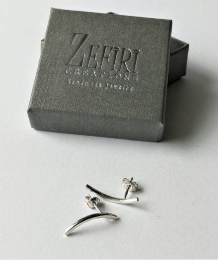ZEFIRI CREATIONS Silver mini Auskari Nr. 6