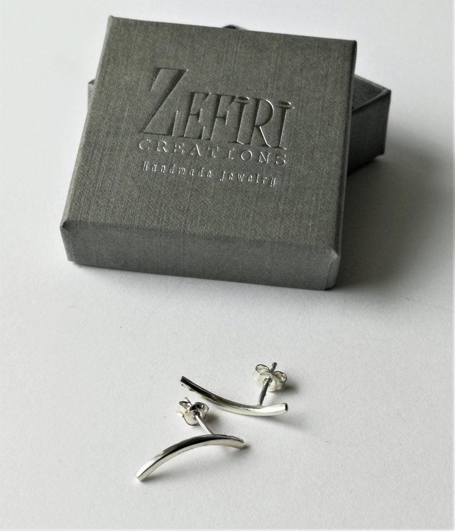 ZEFIRI CREATIONS Silver Earrings Mini No. 6