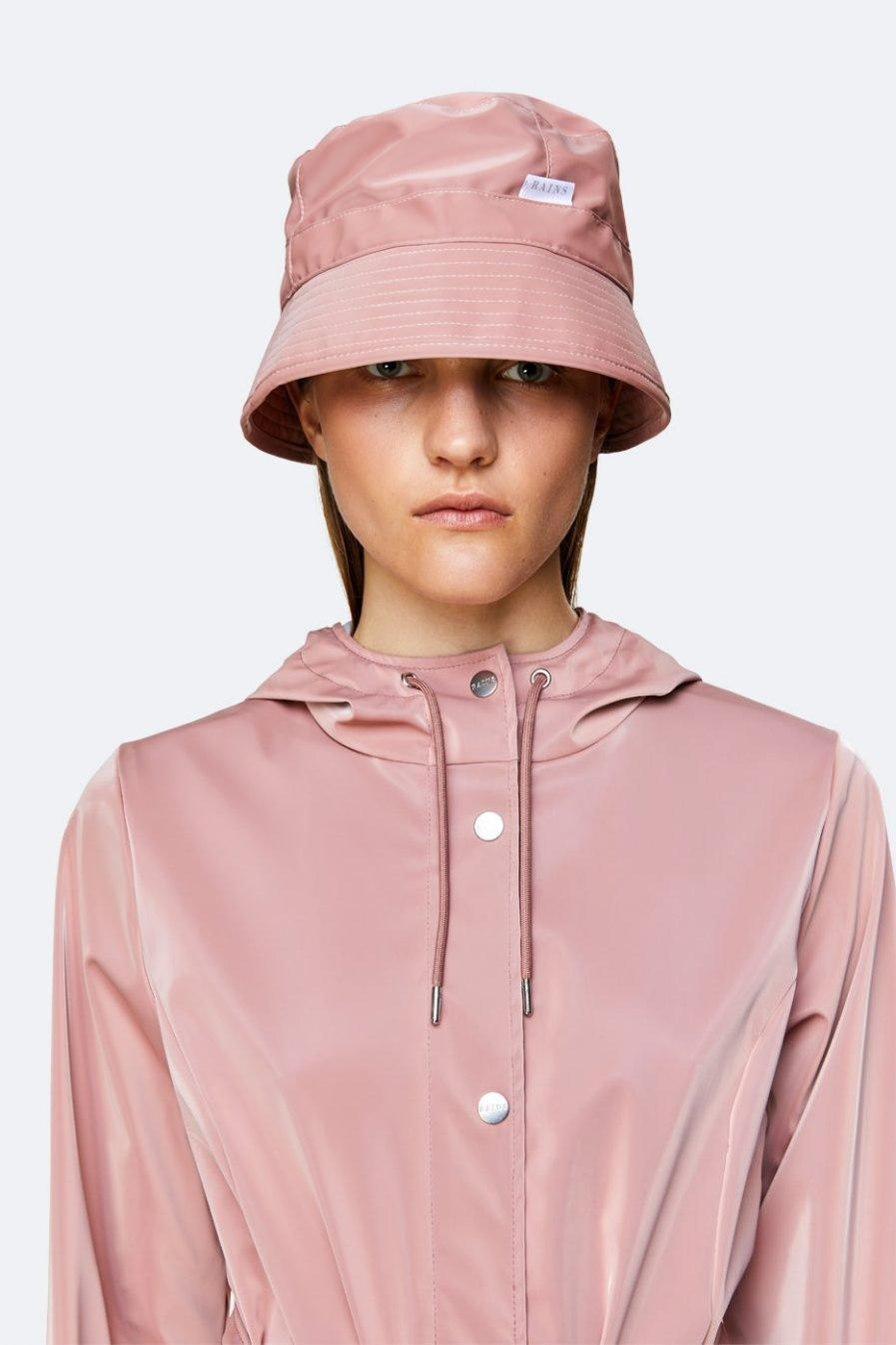 RAINS Bucket Hat Coral