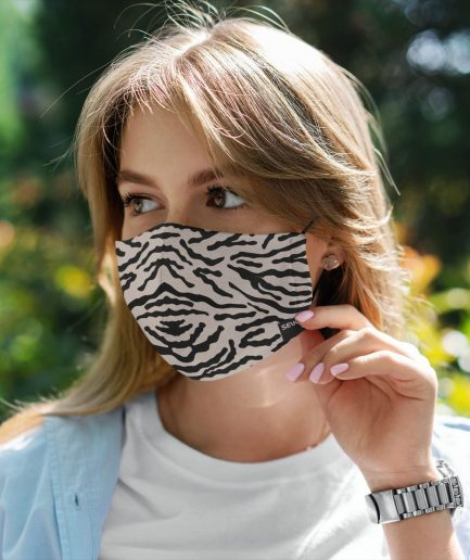 SEIK REUSABLE COTTON FACE MASK – Zebra