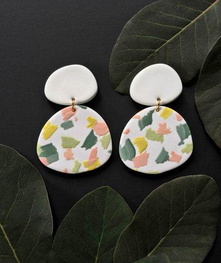 ELĪNA PLŪME Organic Shaped Earrings