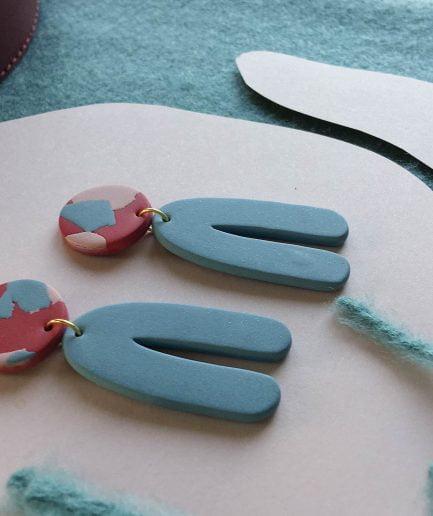 ELĪNA PLŪME Statement Earrings