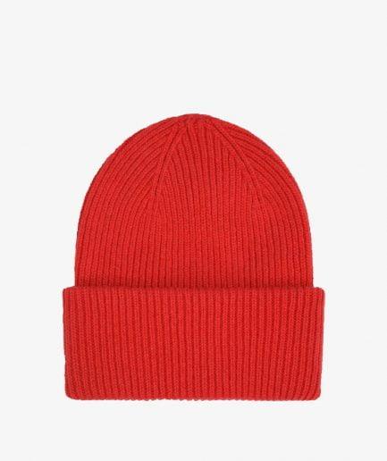 MERINO WOOL HAT - SCARLET RED