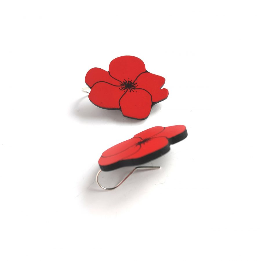 NADA Earrings Poppies
