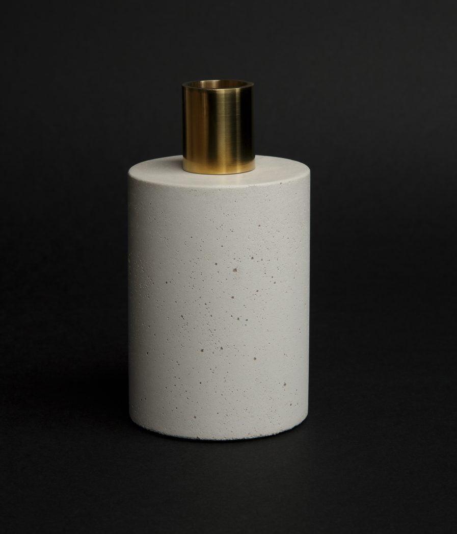 Sensous Candle Holder Cylinder White
