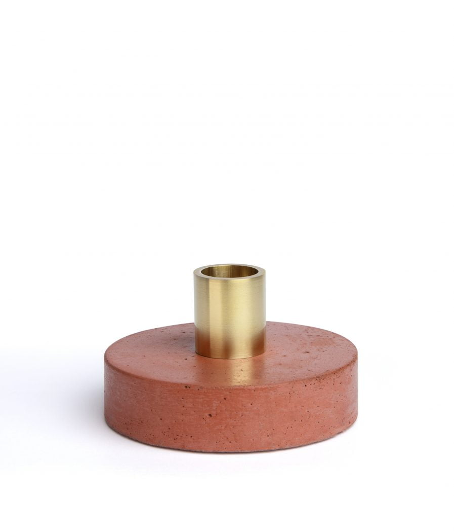 Sensous Candle Holder Ground Red