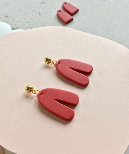 PLUME Free Shaped Cute Dangle Arch Earrings