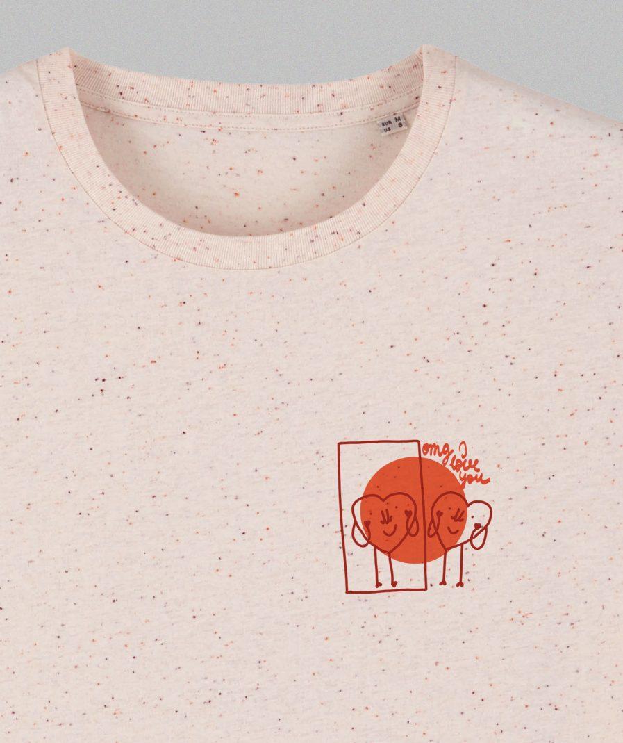 M50 Organic Cotton Unisex T-shirt Heart Omg I Love You