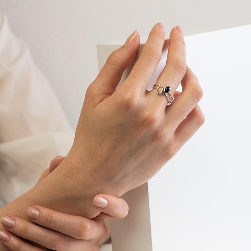 SOFIA LARK Sudraba gredzens ar Kalnu Kristālu