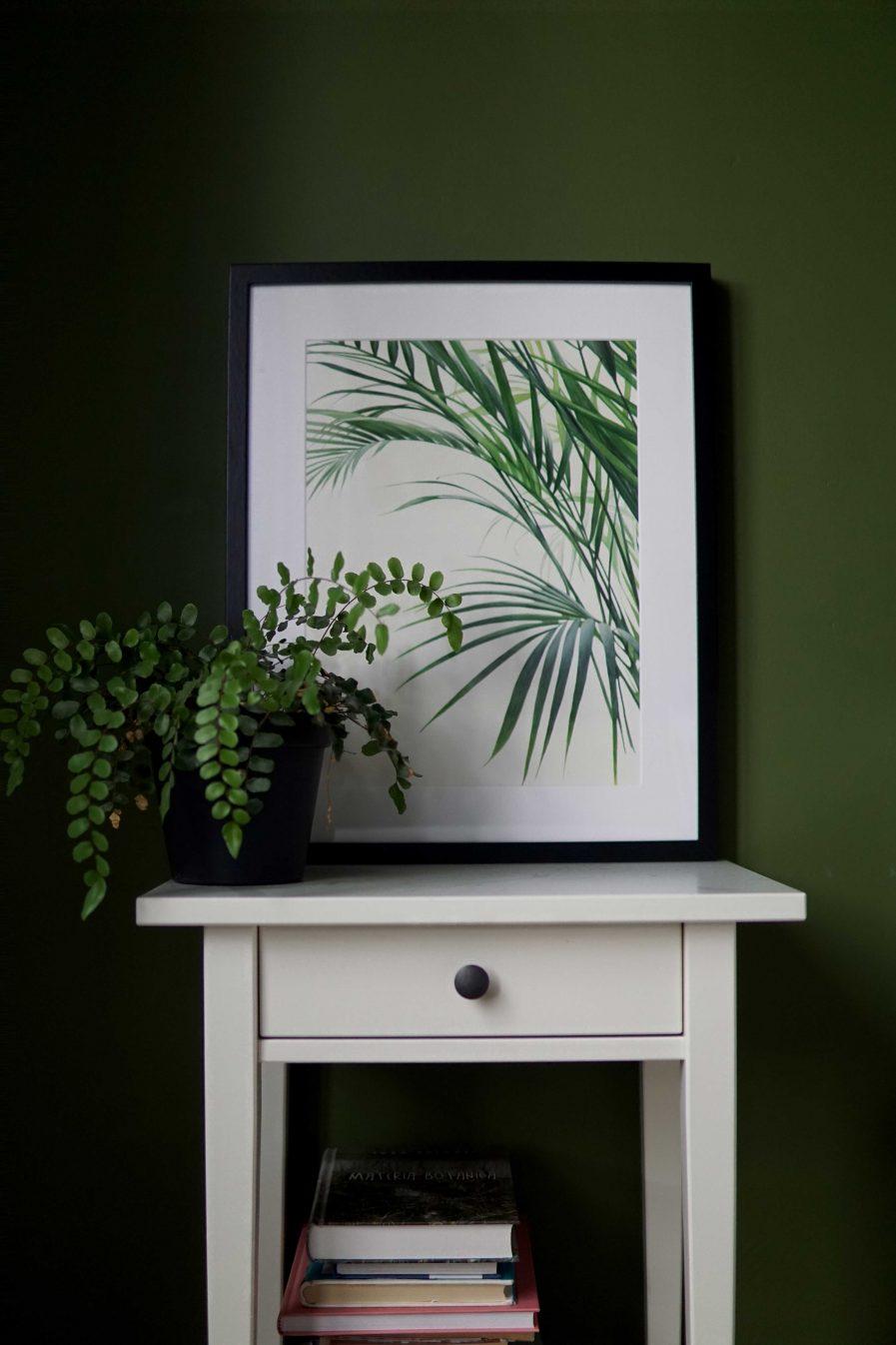Botanical watercolour poster print Bamboo palm No. 2