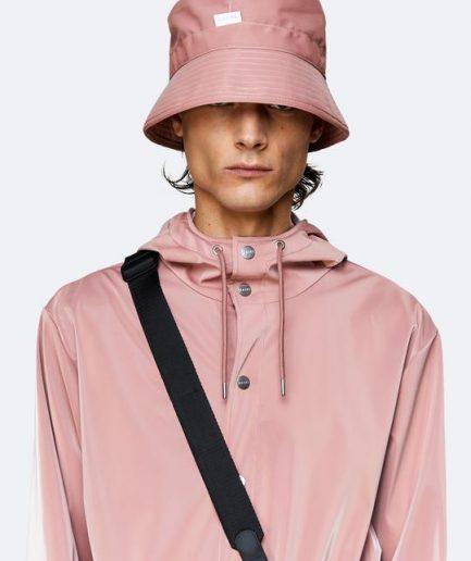 RAINS Cepure spīdīgi Rozā