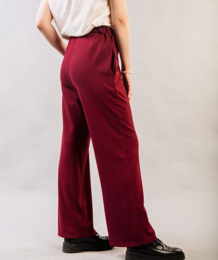 M50 Wide Pants Red Wine