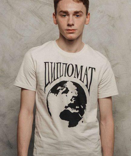 Vaira Vīksne Unisex T-krekls Diplomat, Vintage Balts