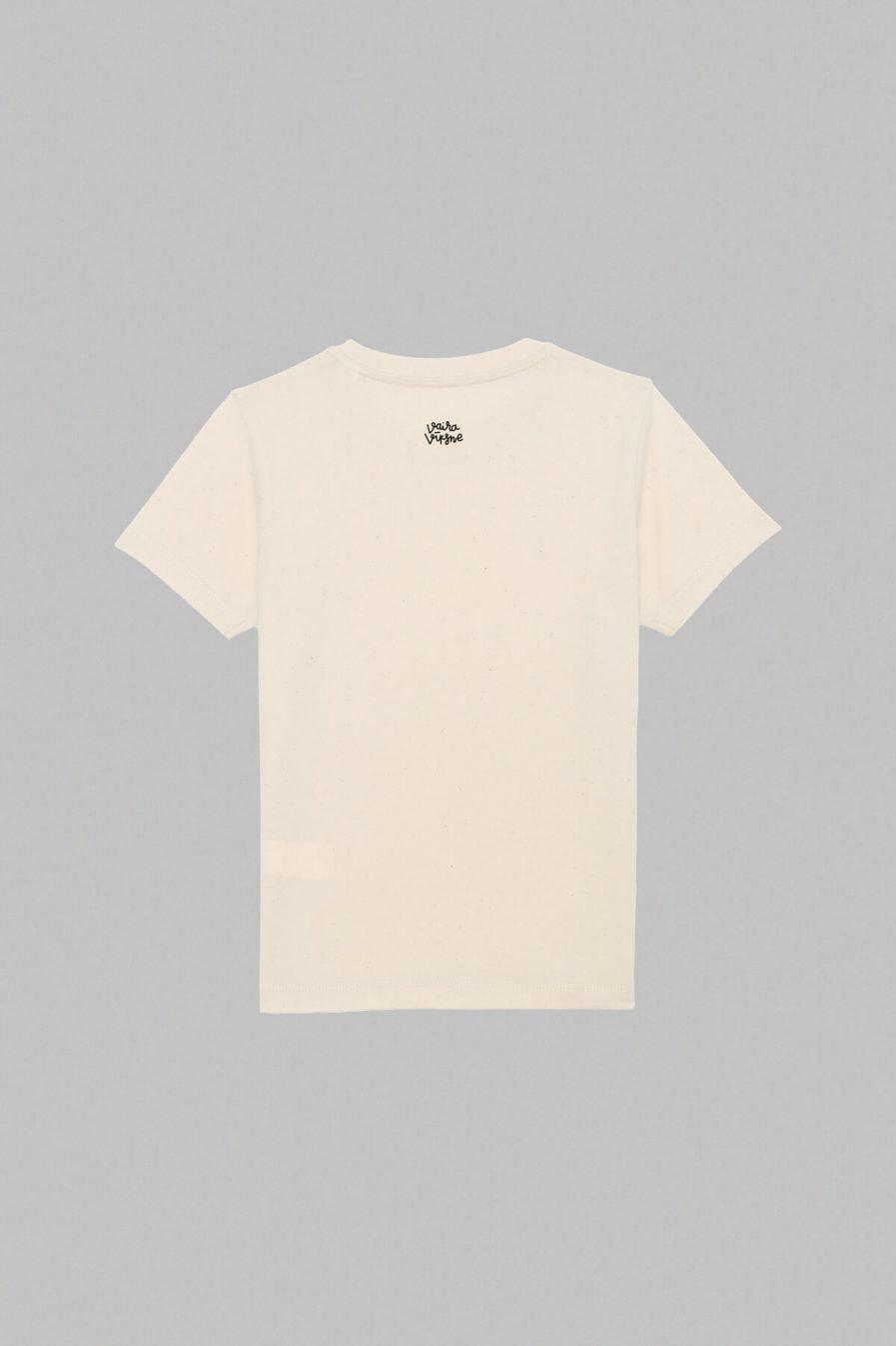 Vaira Vīksne KIDS Organic Cotton T-shirt Condensed Milk - Vintage white
