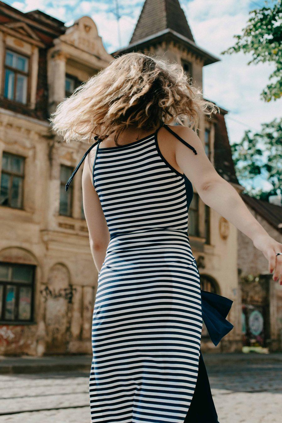 M50 Dress Goddess Reversible Navy Blue