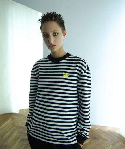 Schastia Zdorovia Striped Duck long sleeve | Black