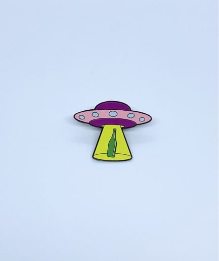 "Schastia Zdorovia Enamel Pin""UFO Bottle"""