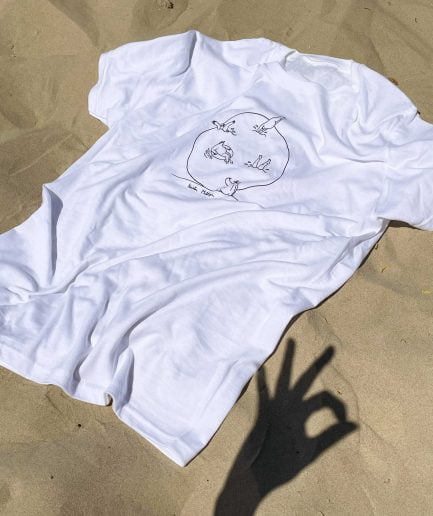 KRISTA MILTINA T shirt SWIMMERS white
