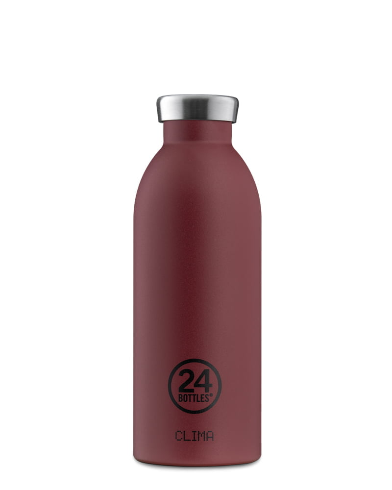 24Bottles Clima Bottle 500ml Stone Country Red