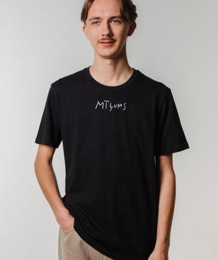 """M50 Organiskās Kokvilnas T-krekls """"MĪĻUMS"""" unisx melns"""