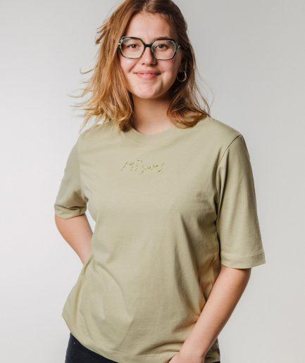 """M50 Organiskas Kokvilnas Sieviešu T-krekls """"MĪĻUMS"""" Salvija"""