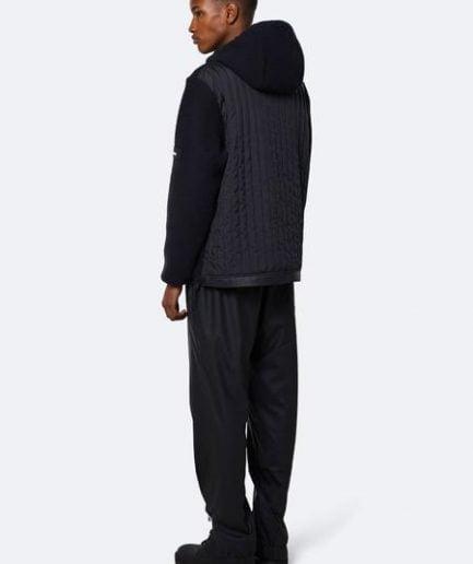 Rains Fleece Pullover Hoodie Black