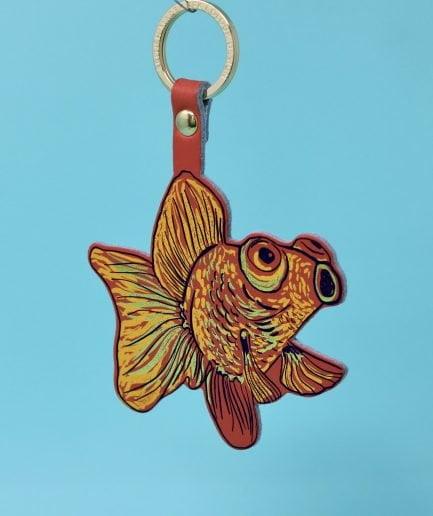 Arc Colour Design GOLDFISH key fob