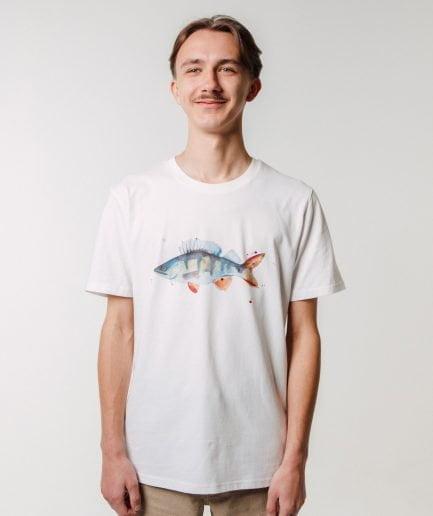 M50 x Zane Veldre Organic cotton Unisex T-shirt PERCH OFF WHITE